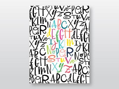 Alphabet Soup home decor alphabet calligraphy handlettering lettering