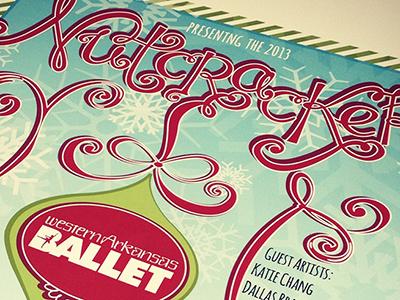 Nutcracker Poster Design- school project pencil rough lettering type drawing illustration illustrator design handlettered poster