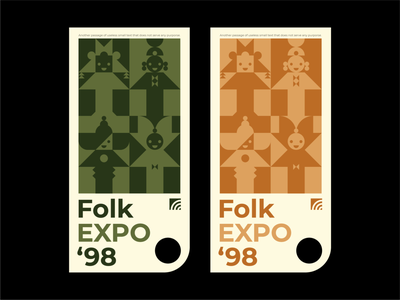 FOLK EXPO 2d art exploration typography simple flat vector illustration design adobe illustrator