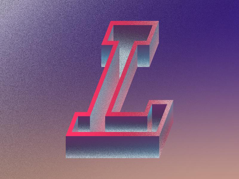 L36 letterforms alphabet art challenge exploration 2d art neon typography simple flat vector illustration design adobe illustrator