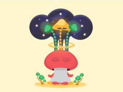 Exploring yourself lifestyle healthy health benefits health psychedlic mind expanding mind meditation mushroom biology character cute illustration