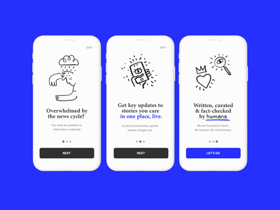 Onboarding News App app onboarding user interface ui design ui