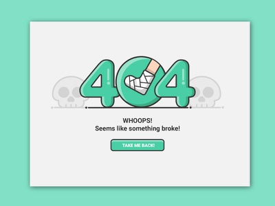 404 error leg broken broke error page error illustration ui