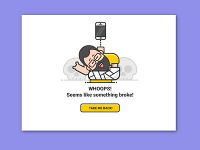 Something broke!