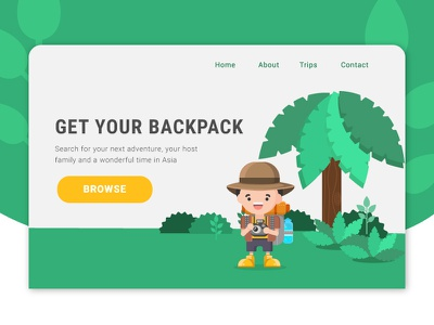 Travel Homepage - Forest homepage illustration landing page travel