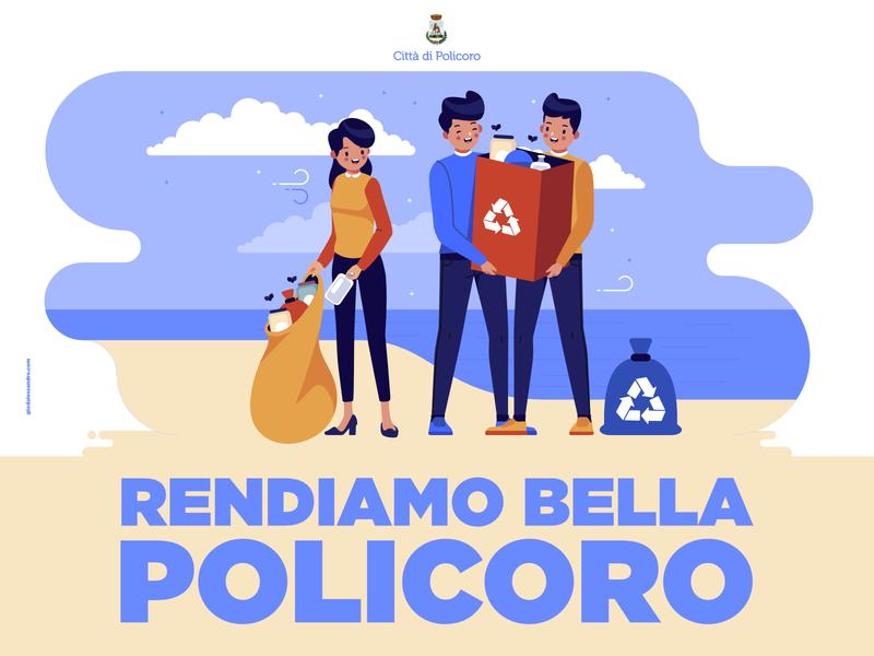 Rendiamo bella Policoro recycle ambient nature illustrator visual design vector ipad pro affinity designer procreate design illustration