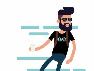 Giodalessandro visual design sunglasses coffee longboard profile design illustration