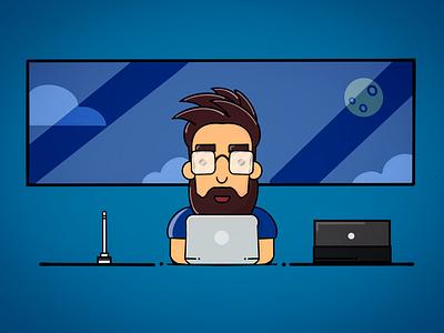Me, myself and I vector graphic design ipad pro illustration procreate