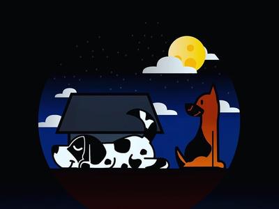 Dogs illustration
