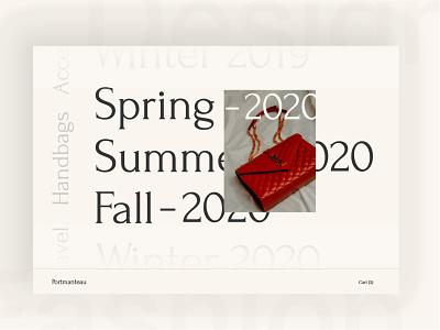 eCommerce Fashion Website fashion seasons selector navigation menu shop design uxui ecommerce light website design web typography branding ui visual design design