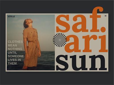 safari sun typogaphy fashion website web typography ux ui branding visual design