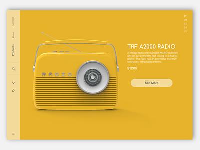 Radio Mobile Site app mobile user interface ui visual design design