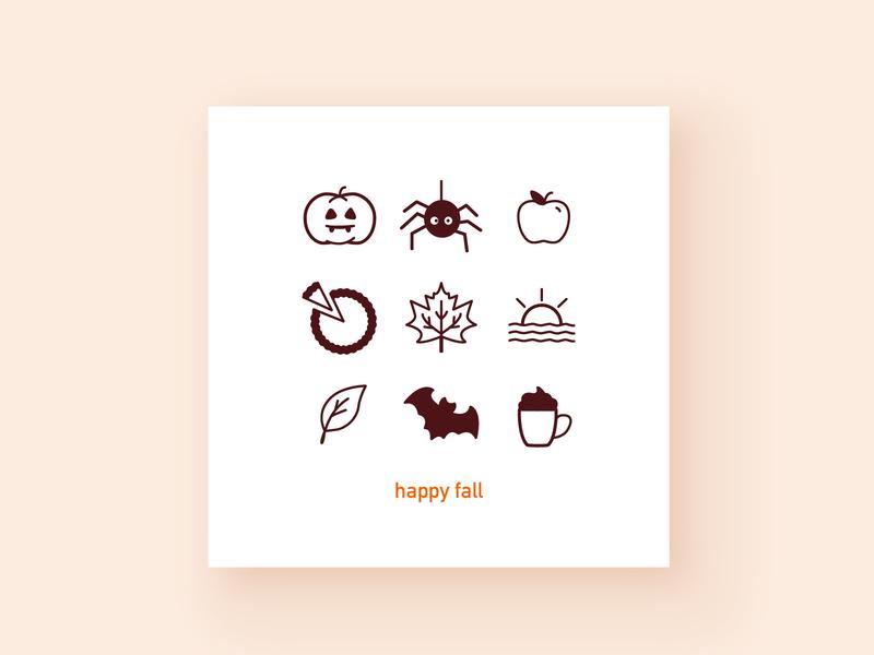 Happy fall y'all! vector iconography branding illustration visual design design