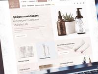 MarbleLab – cosmetics store