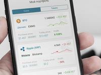 Cryptocurrency portfolio