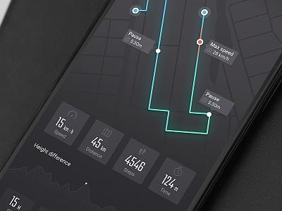 Run tracker download free ux ui ios app sport tracker run