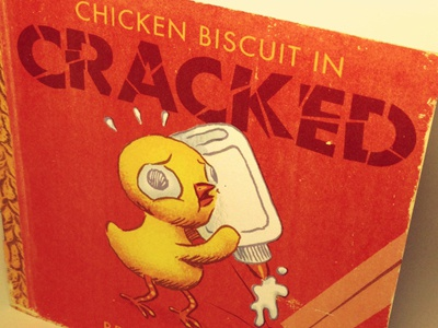 Cracked mini-comic, cover chicken chick mini comic comics book booklet cracked biscuit
