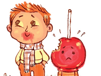You sure are sweet! sweet candy apple boy fall thanks
