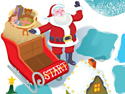 The Santa Game (game board) the santa game board game santa zobmondo! snow kids children
