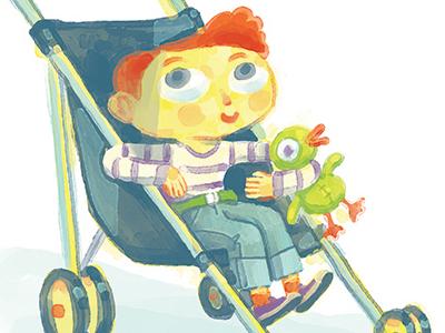 Stroller stroller baby kid child duck stuffed