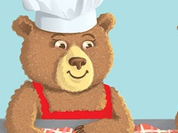 Chef Bears game pie chef bear