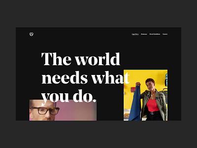 The GO Landing Page ui branding design logo ux