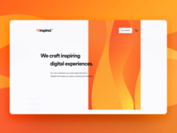 Minimal landing page for &inspired.