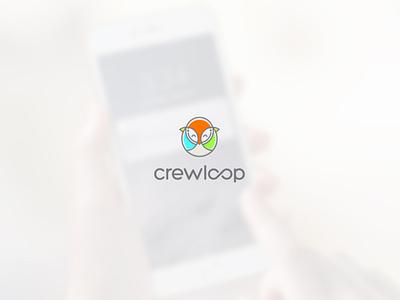 Crewloop birds bird typography application app design mascot design vector logo design logo illustrator branding