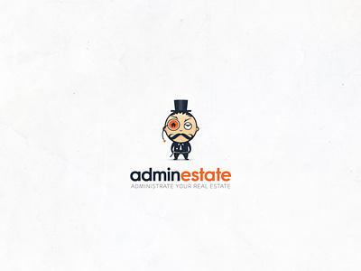 Adminestate real estate mascot design vector logo design logo illustrator branding