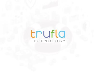 Trufla technology industry multicolor insurance typo design typography vector logo design logo illustrator branding