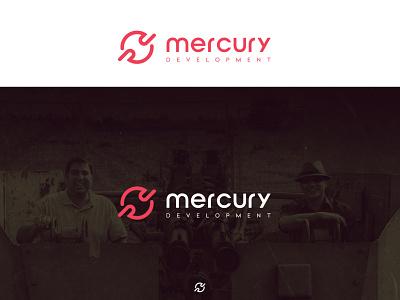 mercury development application app typography vector logo design illustrator logo branding