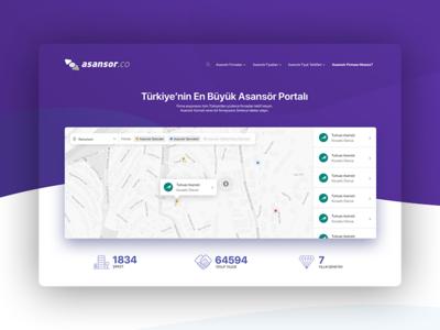 Asansor.co Homepage