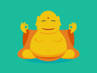 Not so flat Buddha