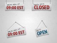 Open/Close Badges