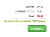 Postage Dropdown in Cart