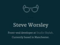 Personal Website v1 - Close-up