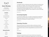 Personal Website v2 - Home