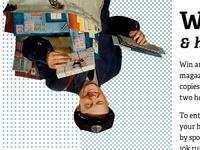 Upside down postman