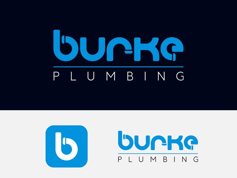 Burke Plumbing Logo icon modern icon design logo concept modern logo concept plumbing logo design logo plumbing logo minimal logo custom logo flat logo modern logo best logo