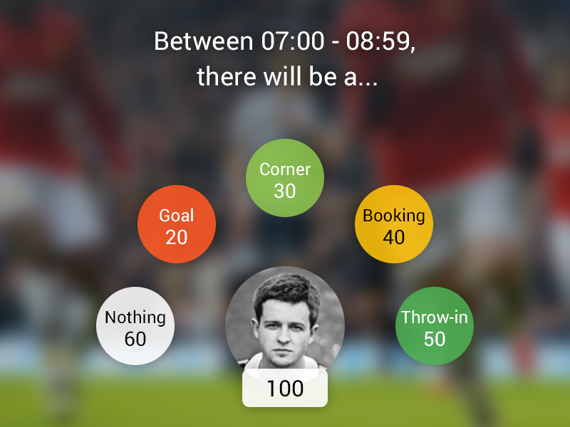 What will happen? heads up soccer football game poker betting sports