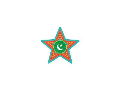 Truck Art Star sticker sitara chand star pakistani art truck art