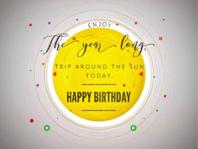 Wishing Happy Birthday the astrophysicist way