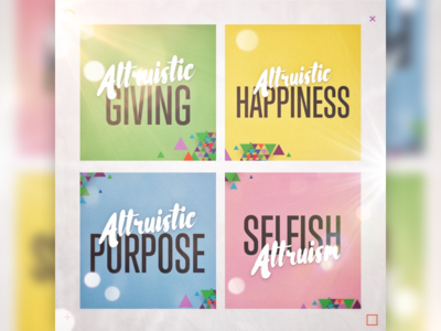 A window of altruism