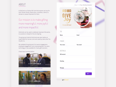 GivtCards: The evolution of a giving brand #6 - About Us page
