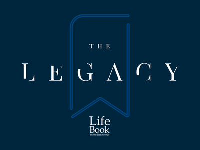 The Legacy Cover presentation presentation design wording lettering bookmark book blue cover art cover legacy