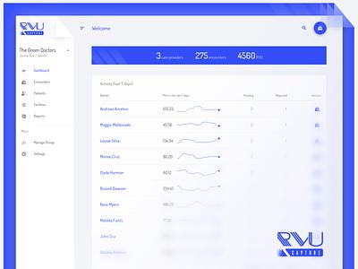 Material design web dashboard material design medical app blue dashboard design desktop dashboad