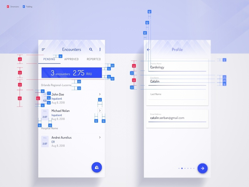 Design Spec materialdesign material ui mobile wireframes