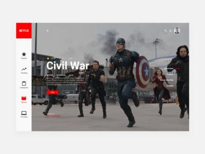 Netflix Redesign - Movies app minimal streaming tv-series movies web ux ui redesign netflix