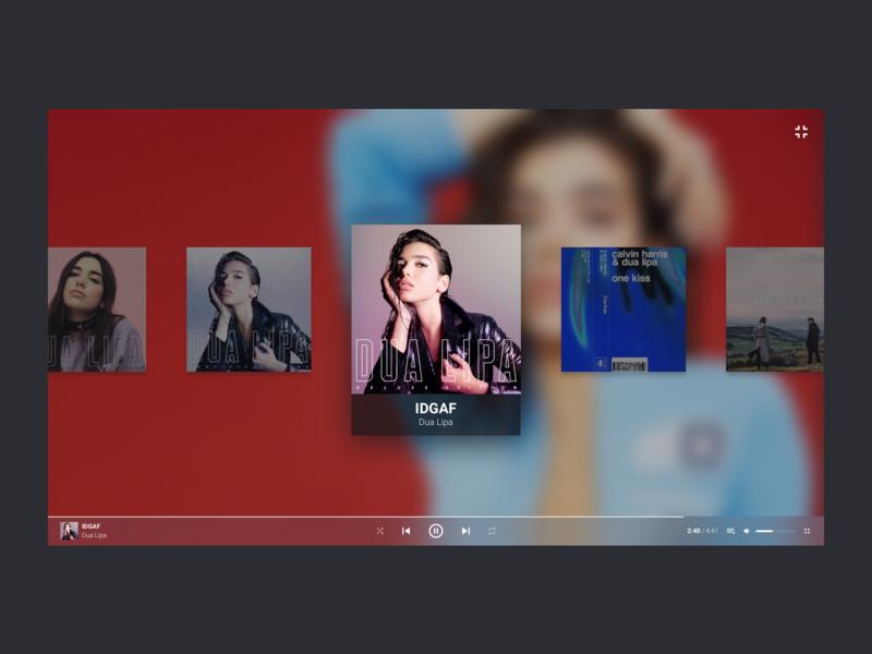 Fullscreen - Music Player app minimal concept redesign player music ux ui artist web