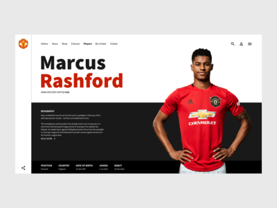 Player page - Man Utd Concept